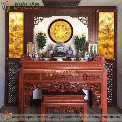 Bàn thờ gia tiên sản xuất bởi Phong Thủy Nhất Tâm